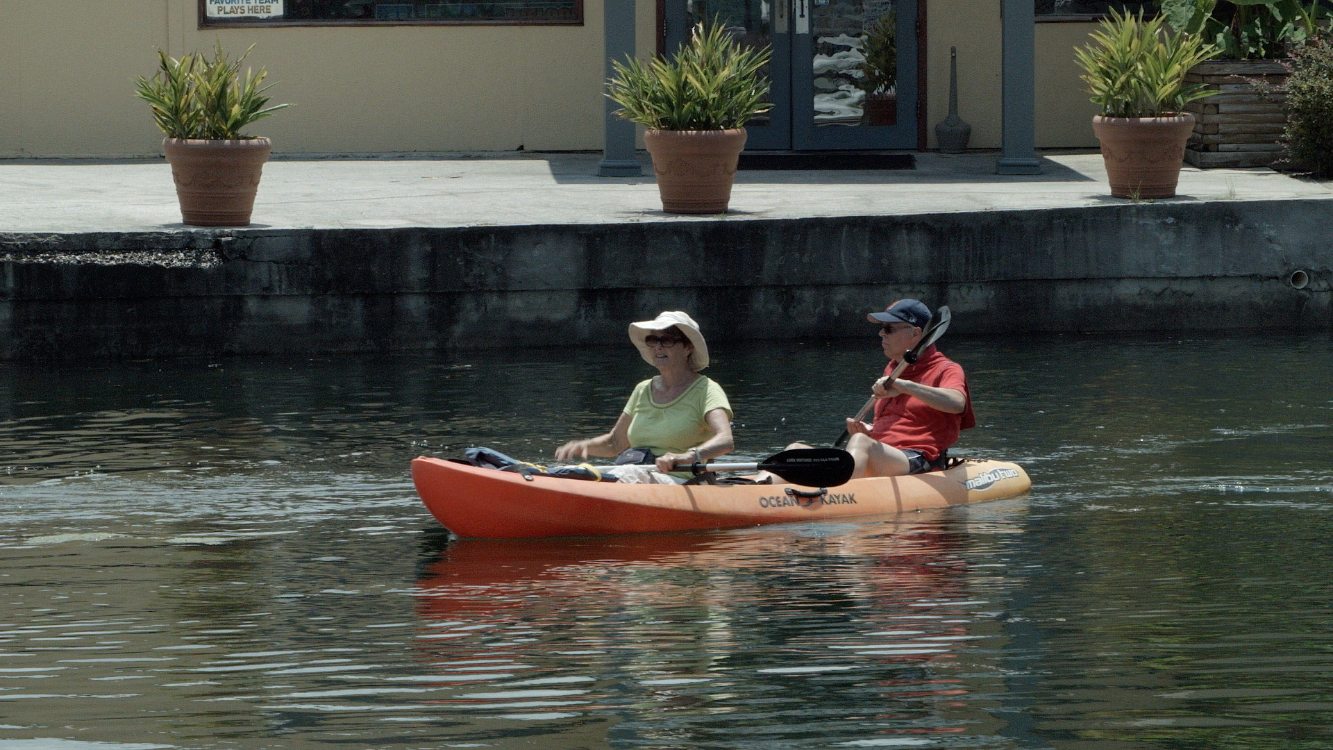 Tandem kayaking for couples