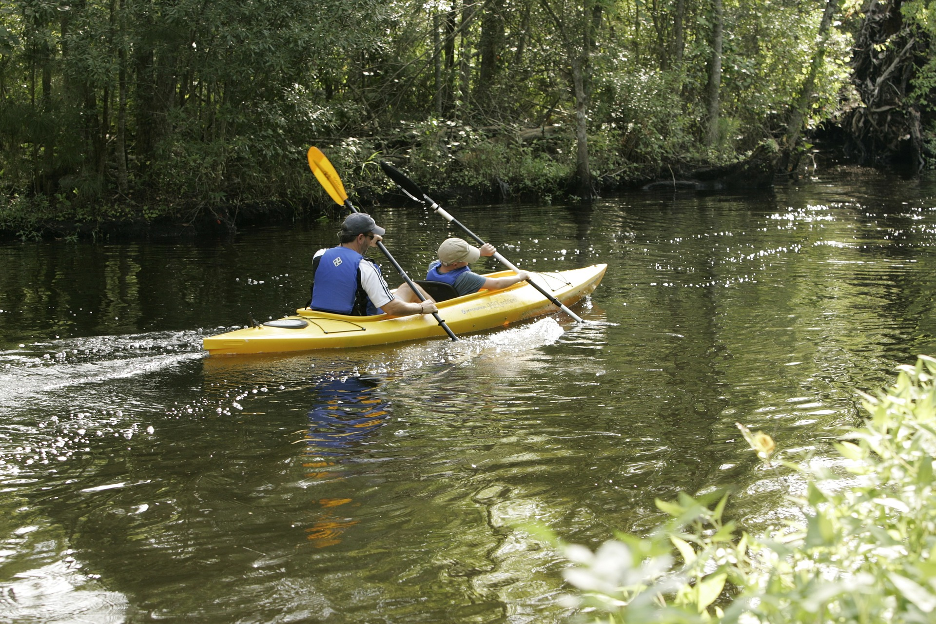 Try tandem kayaks for a new experience